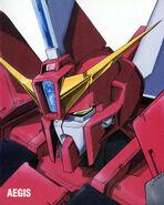 Aegis Gundam Head Illust