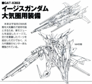 GAT-X303 Aegis Gundam (Atmospheric Equipment) Lineart