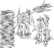 F90P Gundam F90 Plunge Type Lineart