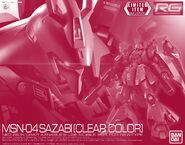 RG Sazabi -Clear Color-
