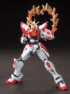 BG-011B Build Burning Gundam (Gunpla) (Front With Burning Burst System Activated)