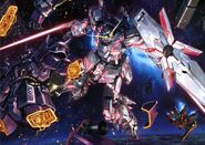 Unicorn Gundam vs Frontal's Royal Guard