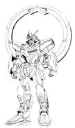 GSX-401FW Stargazer Gundam Lineart1