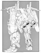 MSA-0011(Ext) - Ex-S Gundam - Back View Lineart