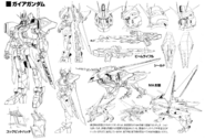 ZGMF-X88S Gaia Gundam Linearts