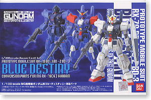 Blue Destiny Conversion Parts for MG RX-79(G) Gundam packaging