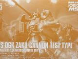 HGGTO YMS-06K Zaku Cannon Test Type