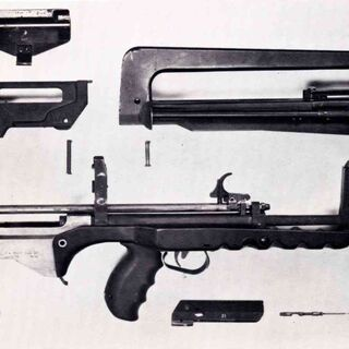 FAMAS F1 field stripped