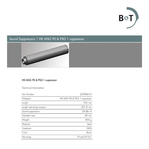 Official suppressor of the MSG-90 & PSG-1 (click to enlarge)