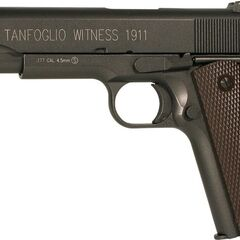 A Tanfoglio air pistol, styled after the colt 1911A1.