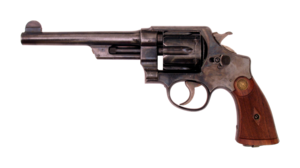 Smith and Wesson .44 Hand Ejector 1st Model New Century Triple Lock Canadian Contract .455 Webley-transparent