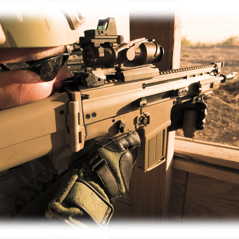 The FN SCAR being used by a U.S. Marine.