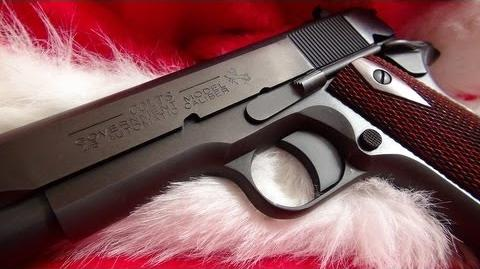 "Santa Claus Plays ""Jingle Bells"" with the Colt 1911"