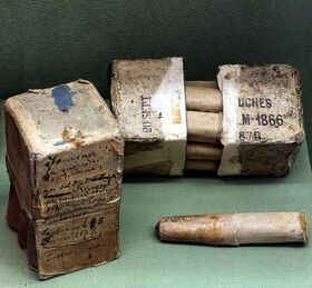 Chassepot Rifle cartridges