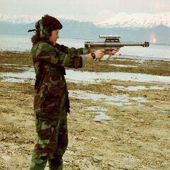 Firing the Maadi-Griffin pistol