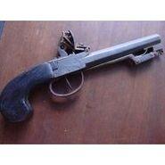 Flintlock pistol with bayonet