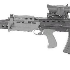 The L86 Light Support Weapon variant of the SA80.