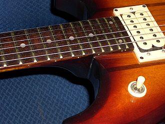 Ibanez Studio ST-200 electric guitar closeup