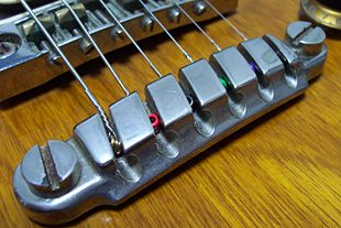 Quick Change Tailpiece on an Ibanez Studio electric guitar