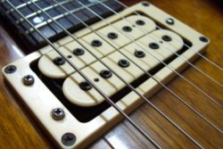 Super Humbucker V-2 pickup on an Ibanez Studio electric guitar
