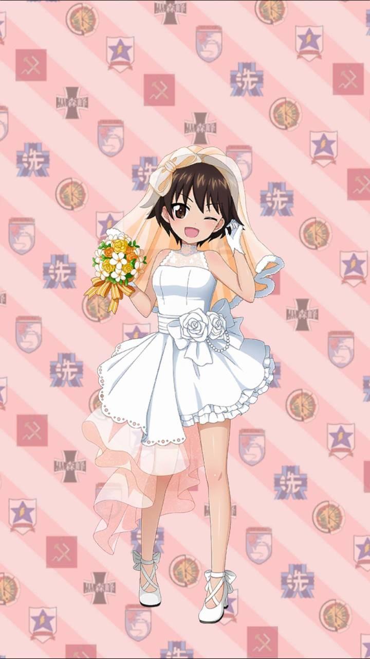 Image - Noriko-marriage-dress-upbystan.jpg | Girls und Panzer Wiki ...