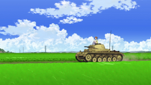 Panzer II carrying Miho.