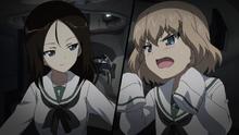 Nonna and Katyusha in Ooarai uniform
