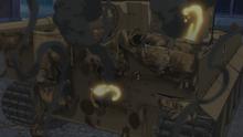Damage to Maho's Tiger I