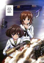 Yukari and Miho in color