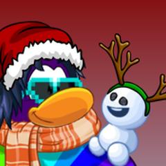 mi pinguino animado versión navideña, mi décima novena imagen de perfil