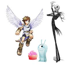 Pit, un pastelillo, babosa sónica y Jack Skellington, mi segunda imagen de perfil