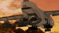C-5M Super Galaxy air dropping with the LAPES system