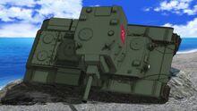 KV-2 tilting over