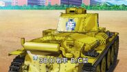 Panzer 38(t) gold painted