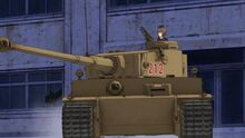 Tiger I advancing