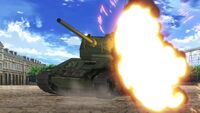 Knocked out T-34-85