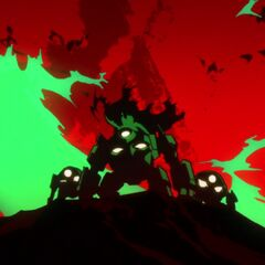 Lordgenome and other Spiral Warriors in their Laganns.