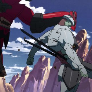 Gurren fighting Enki