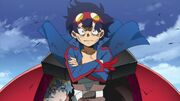 Simon stepping out og Gurren Lagann