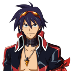 In his Team Dai-Gurren outfit