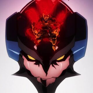 Lordgenome's Lagann forming itself during the final battle with the Granzeboma