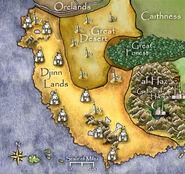 Djinn Lands Map