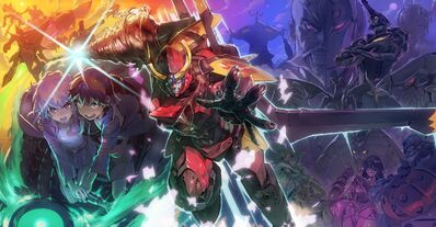 Anime-Tengen-Toppa-Gurren-Lagann-Simon-Teppelin-Nia-screenshot-mecha-comic-book-205315