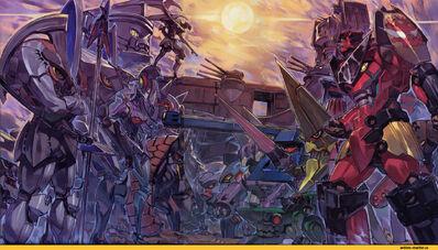 Tengen-Toppa-Gurren-Lagann-Anime-Аниме-без-Няш-Mech-2396575