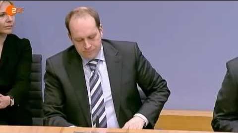 Guttenberg Eklat bei der Bundespressekonferenz