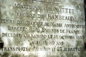 Agathe plaque