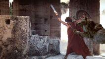 Orthrus tackles Perseus