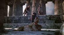 Perseus kills Orthrus