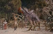 Phororhacos attacking prey