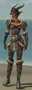 Warrior Charr Hide Armor F gray front